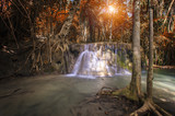 Waterfall on deep forest