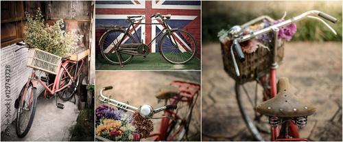 Fotobehang Fiets Old Vintage Bicycle
