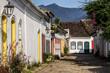 Leinwanddruck Bild - Strasse in Paraty in Brasilien