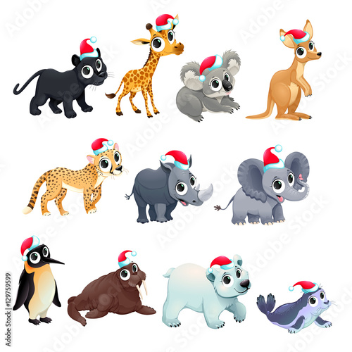 Photo Stands kids room Funny Christmas animals