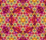 Seamless vector oriental kaleidoscope pattern