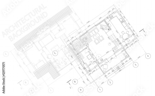 Abstract Architectural Background Vector Blueprint Detailed Floor
