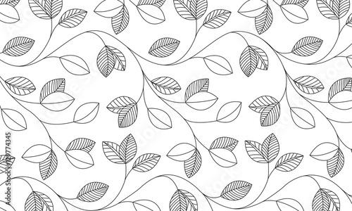 Fotografering  Vektor - Blättermuster / Vector - Leaf pattern