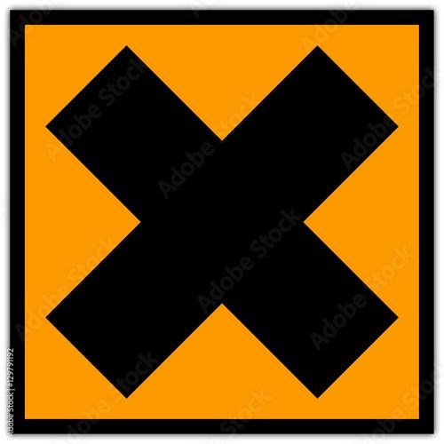Fotografie, Obraz  Pictogramme produit chimique : Irritant