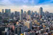 Cityscapes of tokyo in Fog winter, Skyline of Tokyo, office buil