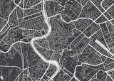Die Vektorlandkarte von Rom