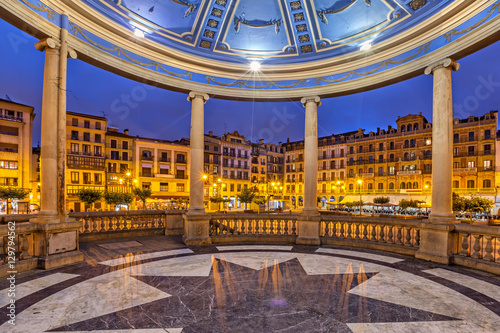 View from bandstand on Plaza del Castillo in Pamplona Canvas Print