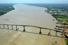 Aerial View Of Bidge In Paramaribo Suriname