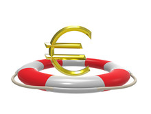 Euro With Lifebuoy, 3d Rendering