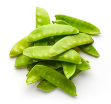 Snow Peas Isolated On White, F...