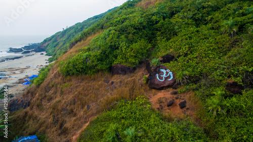 Foto op Aluminium Eiland Kalacha beach on sunset. India in Goa. Aerial