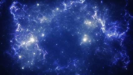 Deep space nebula with stars.