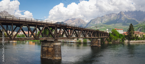 Photo Lecco railway bridge on River Adda