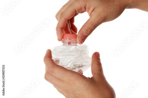 Photo  PET bottle on hand