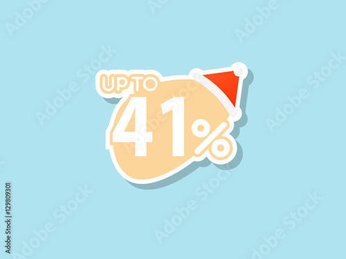 Poster  offers 41% discount for Christmas