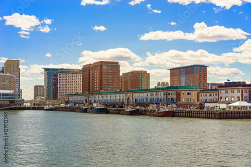Staande foto Antwerpen Harbor at Boston Wharf in Charles River Boston