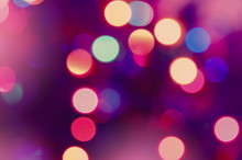 Abstract Lights Blur Bokeh Background