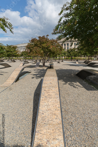 Poster  The Pentagon Memorial in Washington DC - no names on display