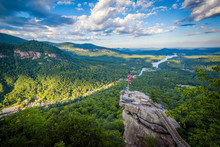 View Of Chimney Rock And Lake ...