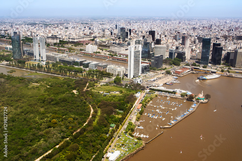 Keuken foto achterwand Buenos Aires The Puerto Madero neighborhood of Buenos Aires view from aerial