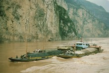 Coal Barges In The Xiling Gorg...