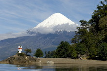 Volcan Osorno And Lago Todos Los Santos, Cruce Des Lagos, Puerto Varas, Lakes District, Southern Chile