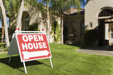 Open House Sign In Front Of A ...