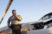 Traffic Cop Communicating On W...