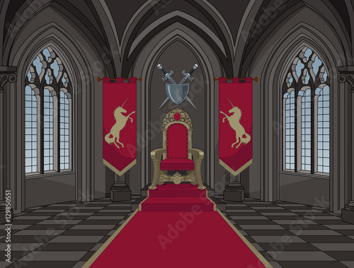 Poster Magie Medieval Castle Throne Room