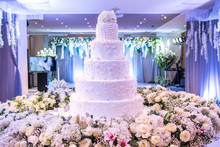 A Beautiful Wedding Cake With ...