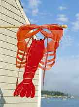 Lobster Sign On The Maine Coast, New England