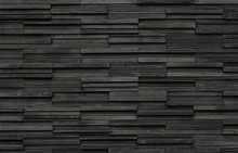 Black Bricks Slate Texture Bac...