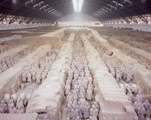 Six Thousand Terracotta Figures Two Thousand Years Old, Army Of Terracotta Warriors, From The Tomb Of The First Emperor Of China, Qin Shi Huang, Xian, Shaanxi Province, China