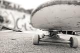 under the skateboard