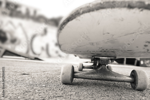 Photo  under the skateboard