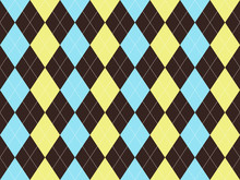 Brown Blue Yellow Argyle Seaml...