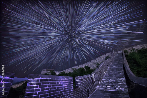 Muraille de Chine Star trails at the Great Wall