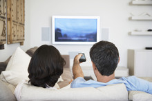 Rear View Of Couple Watching T...