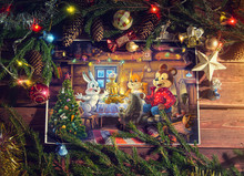 Christmas Illustration With Ch...