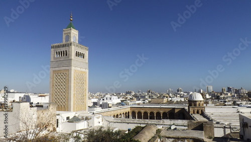 View Of The Al Zaytuna Mosque And The Skyline Of Tunis The Mosque Is A Landmark