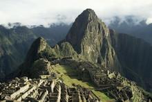 Lost City Of The Incas At Dawn, Machu Picchu, Peru
