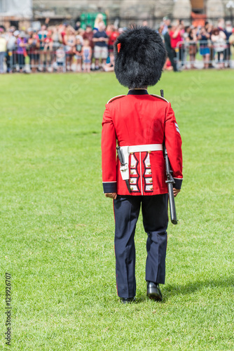 Photo  Soldier in the Changing of the Guard in Canada