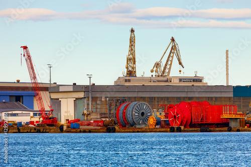 Cable storage in port of Stavanger, Norway. © Nightman1965