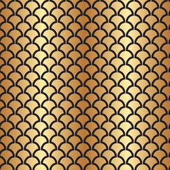 Panel Szklany Podświetlane Art Deco Abstract Seamless Art Deco Vector Pattern