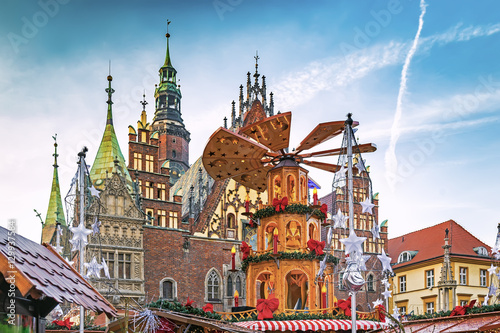 Christmas market in Wroclaw. Poland