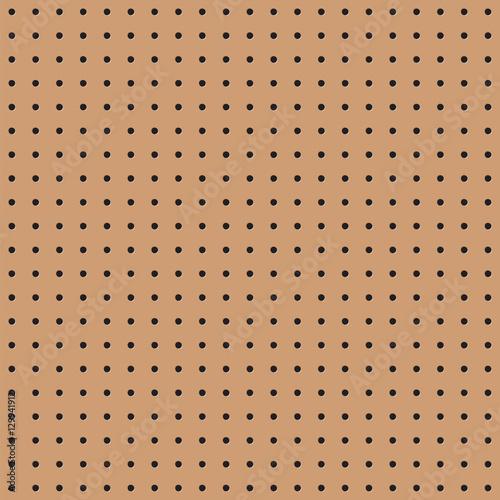 Obraz na plátně  Seamless brown peg board texture pattern