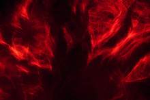 Abstract Composition Of Red Smoke In The Dark