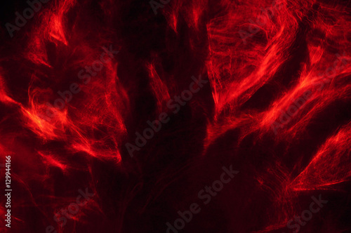 Fotografie, Obraz  Abstract composition of red smoke in the dark
