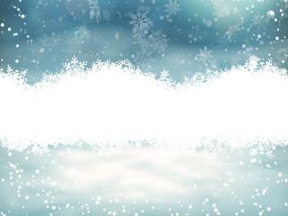 Fototapeta Boże Narodzenie/Nowy Rok Merry Christmas Landscape. EPS 10