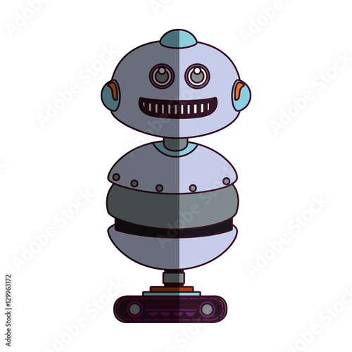 Poster Robots robot character isolated icon vector illustration design